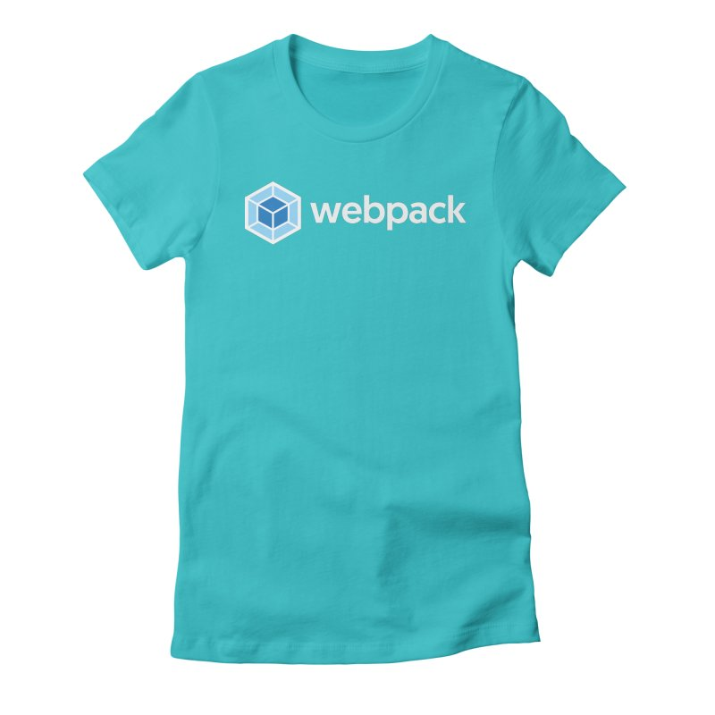 webpack named logo in Women's Fitted T-Shirt Pacific Blue by webpack developer outfitters