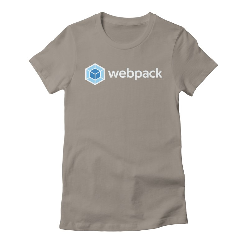 webpack named logo Women's Fitted T-Shirt by webpack developer outfitters