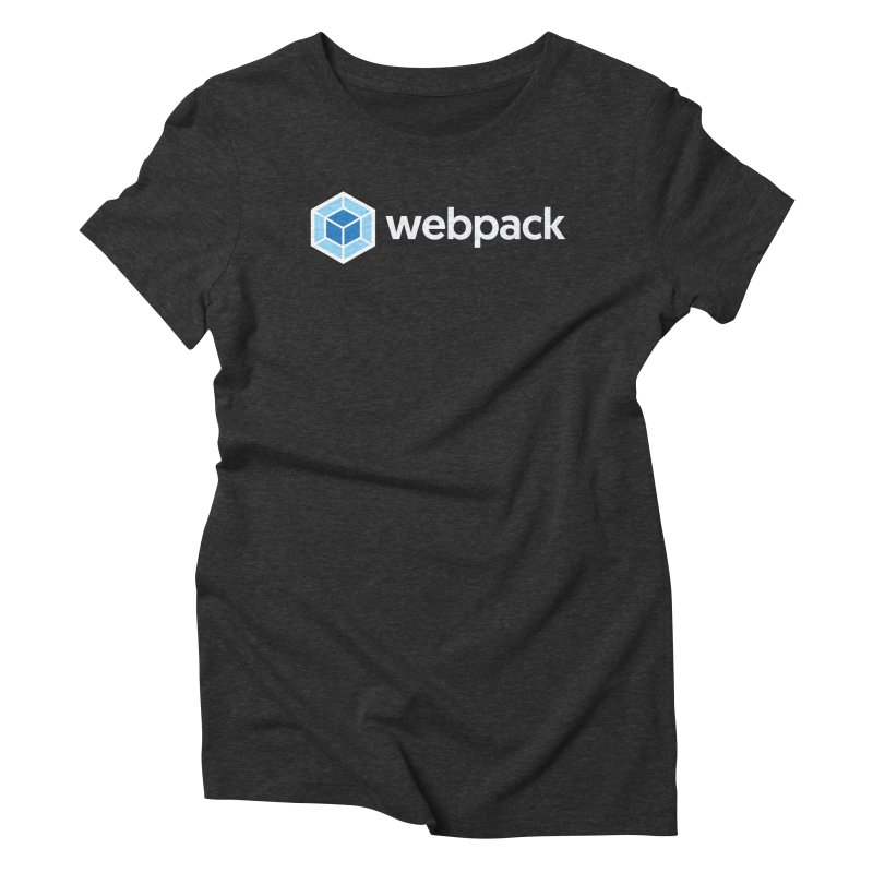 webpack named logo Women's Triblend T-shirt by webpack developer outfitters
