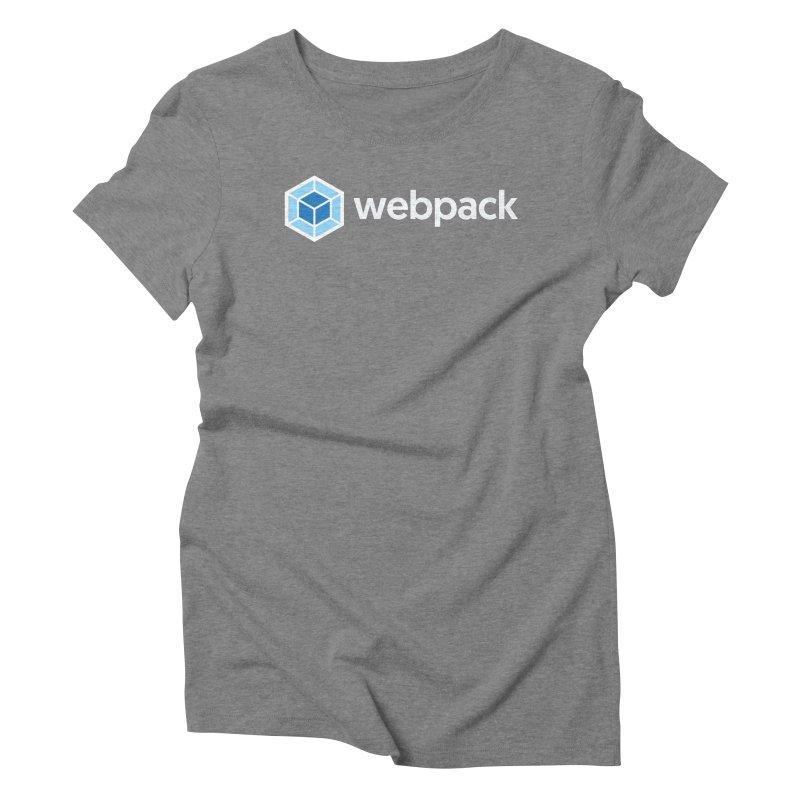webpack named logo Women's Triblend T-Shirt by webpack developer outfitters