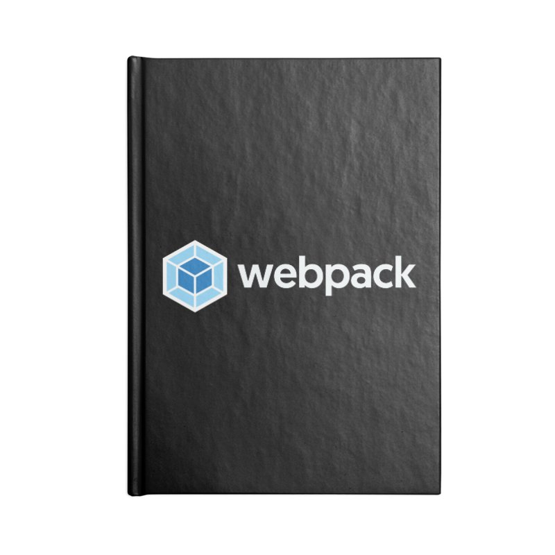 webpack named logo Accessories Notebook by webpack developer outfitters