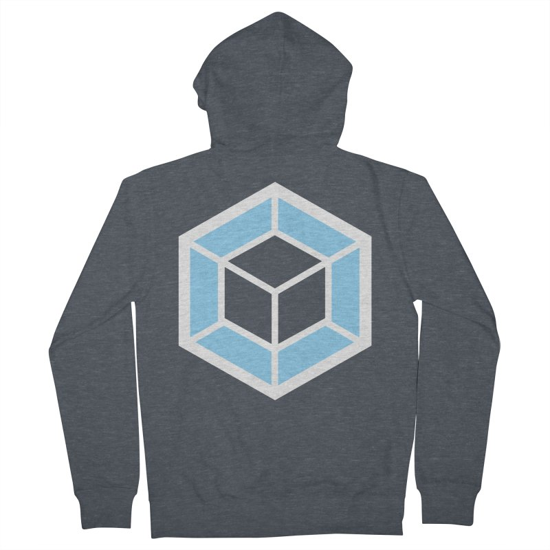 Transparencey in Men's French Terry Zip-Up Hoody Heather Navy Denim by webpack developer outfitters