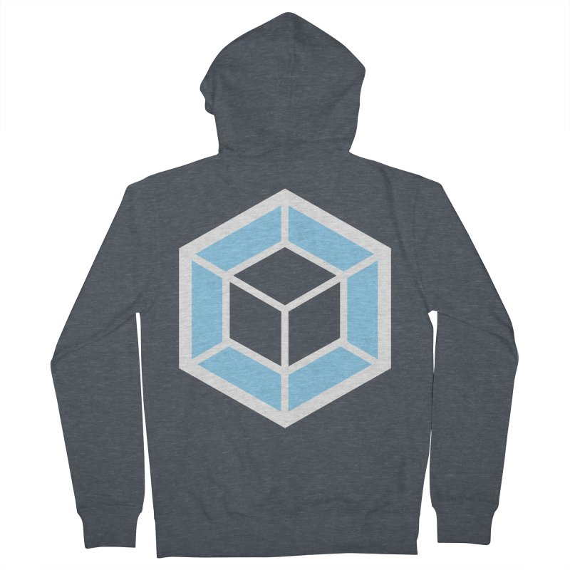 Transparencey in Men's Zip-Up Hoody Heather Navy Denim by webpack developer outfitters