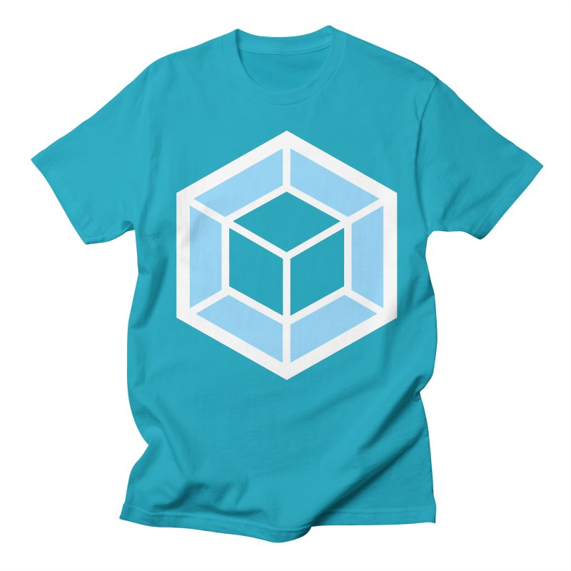 Transparencey in Men's T-shirt Cyan by webpack developer outfitters