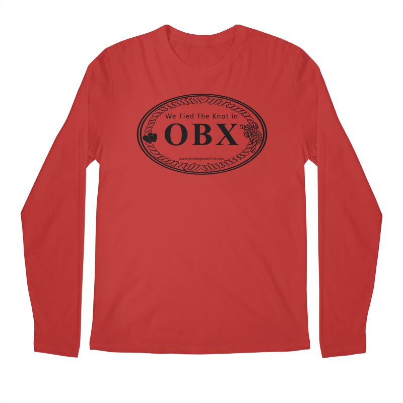 OBX Oval Men's Regular Longsleeve T-Shirt by Married on a Sandbar!