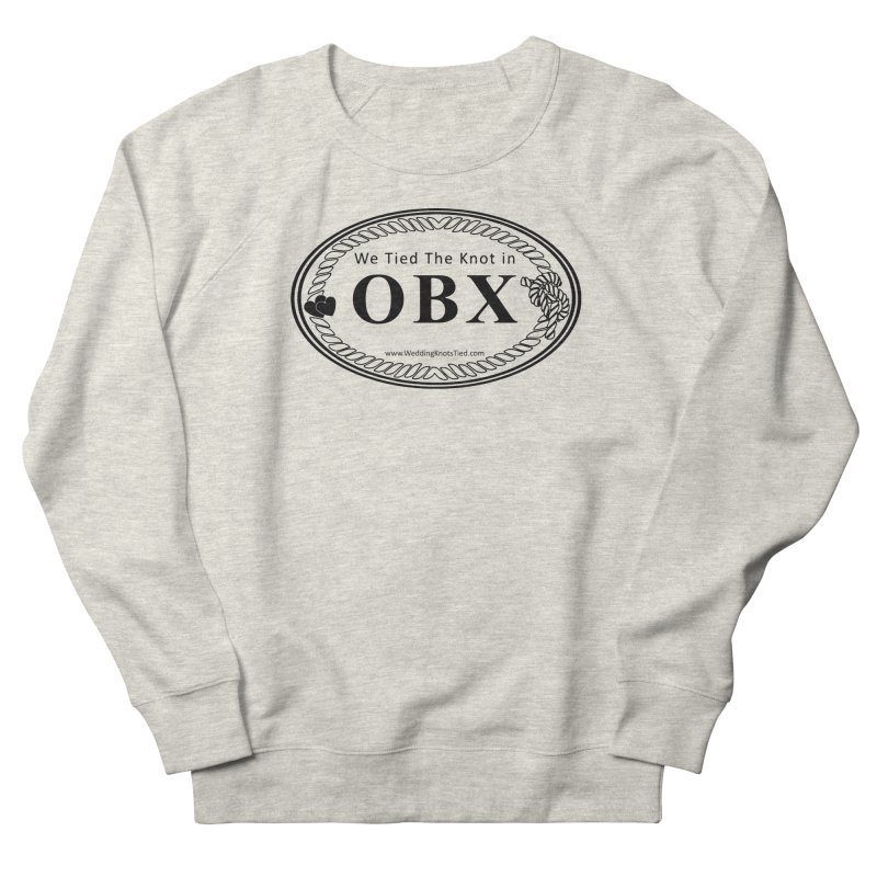 OBX Oval Men's French Terry Sweatshirt by Married on a Sandbar!