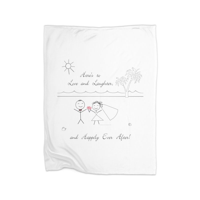 Happily Ever After Home Fleece Blanket Blanket by Married on a Sandbar!