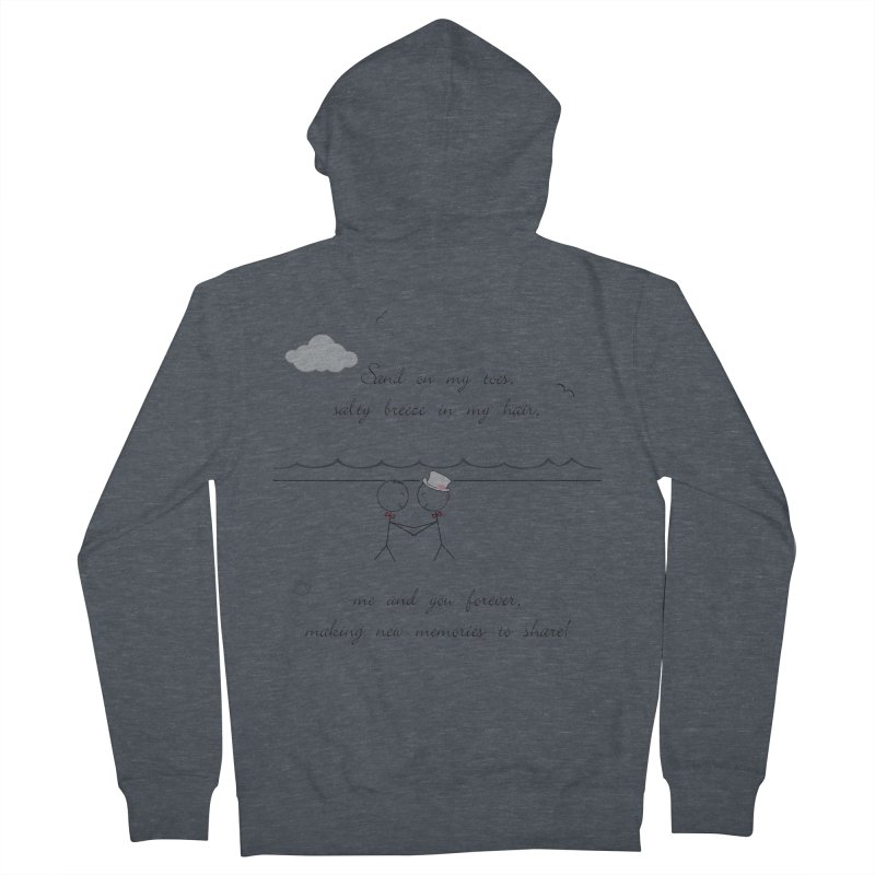 Memories 2 Women's French Terry Zip-Up Hoody by Married on a Sandbar!