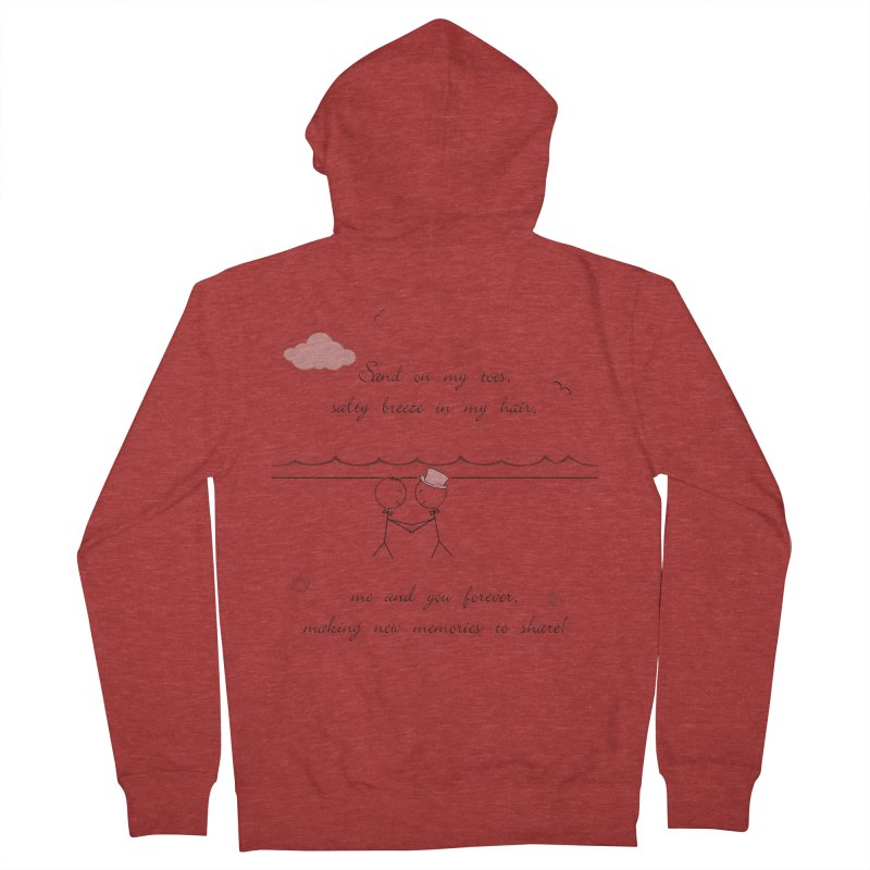 Memories 2 Men's French Terry Zip-Up Hoody by Married on a Sandbar!