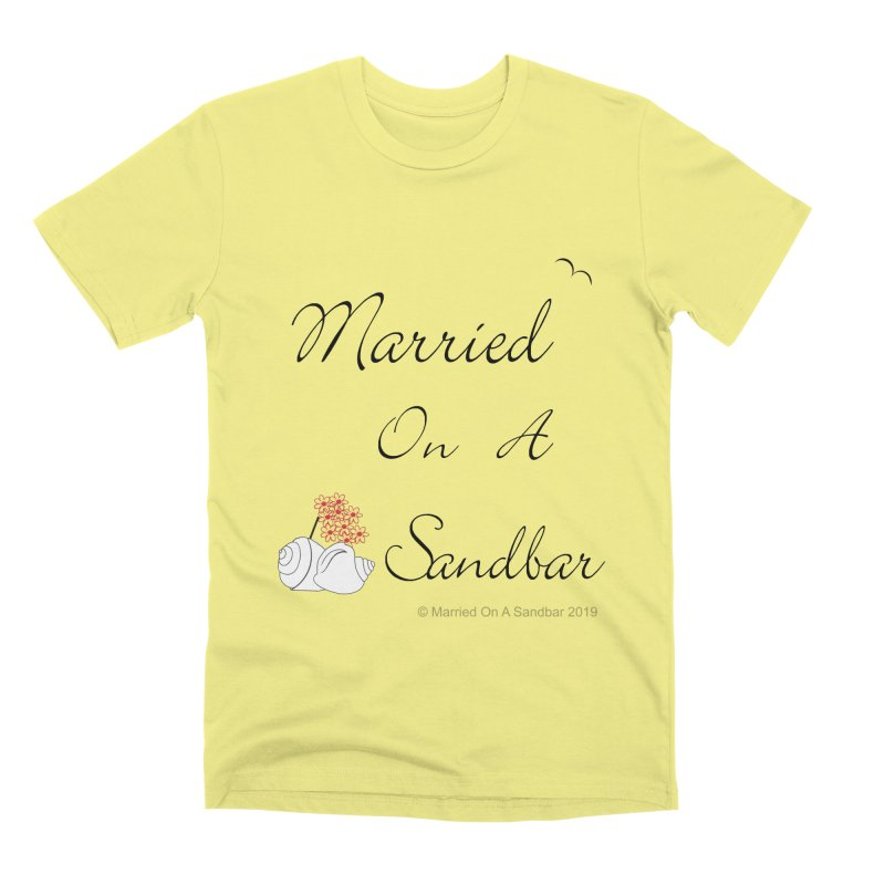 Married On A Sandbar logo Men's Premium T-Shirt by Married on a Sandbar!