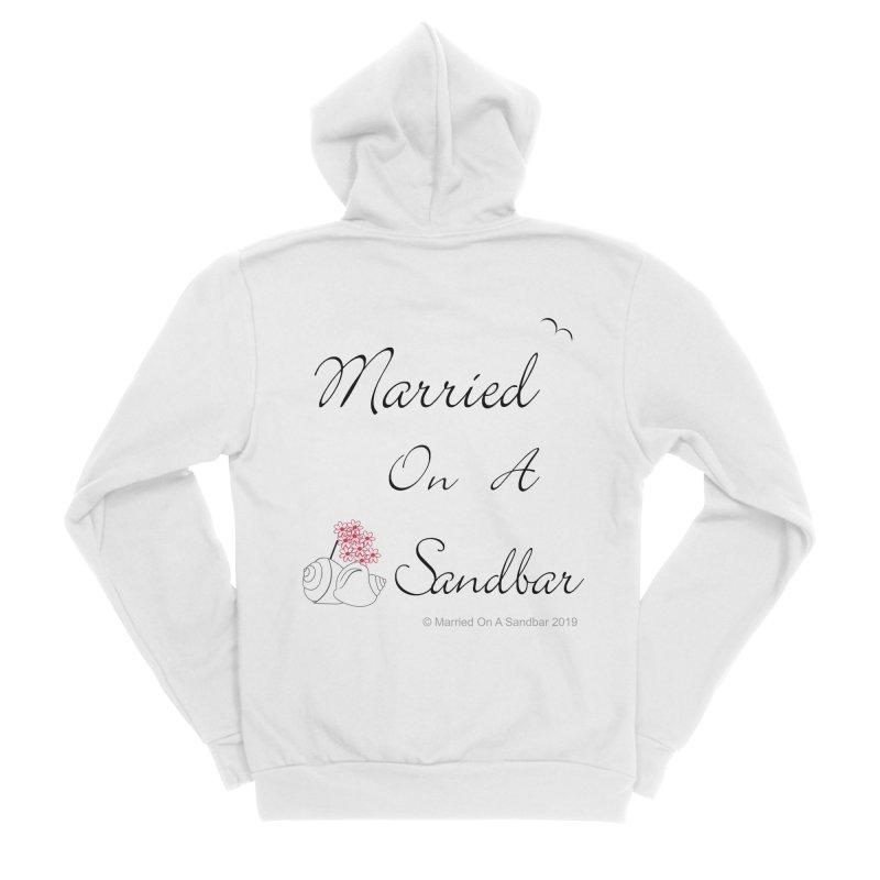Married On A Sandbar logo Women's Sponge Fleece Zip-Up Hoody by Married on a Sandbar!