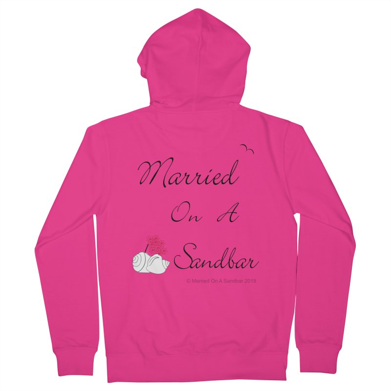 Married On A Sandbar logo Men's French Terry Zip-Up Hoody by Married on a Sandbar!