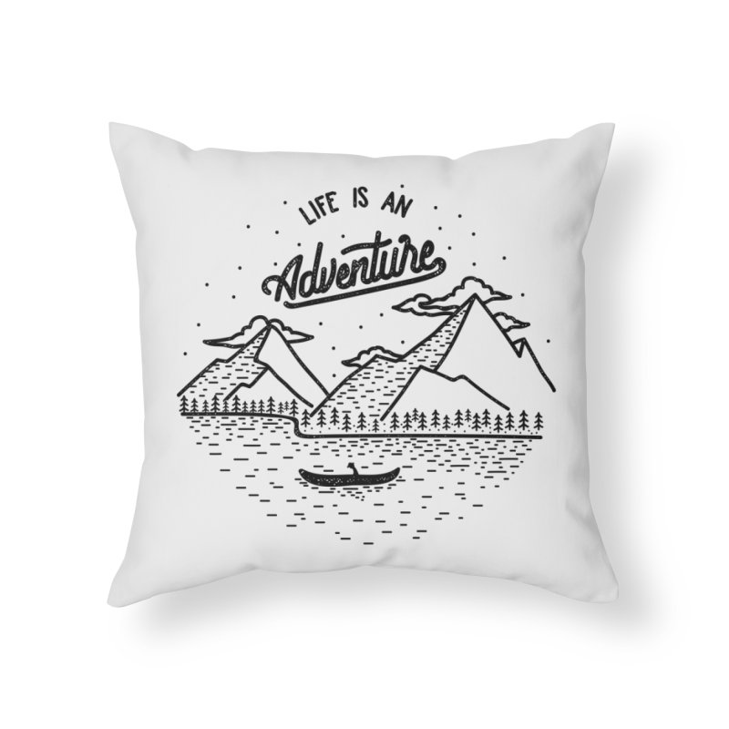 ADVNTR Home Throw Pillow by wege on threadless
