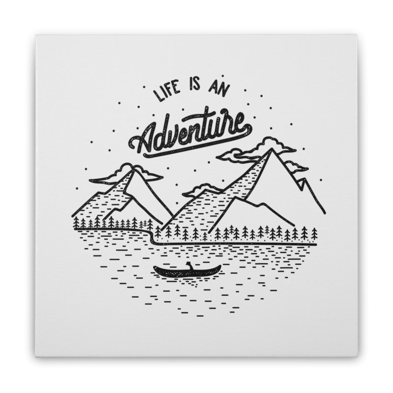 ADVNTR Home Stretched Canvas by wege on threadless