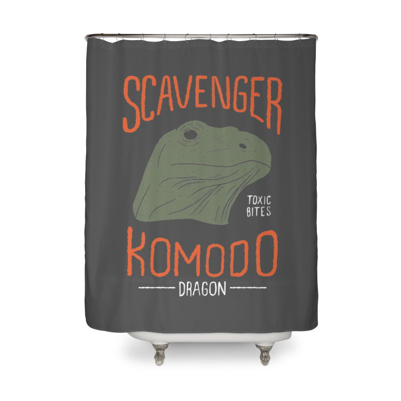 Scavenger Komodo Home Shower Curtain by wege on threadless