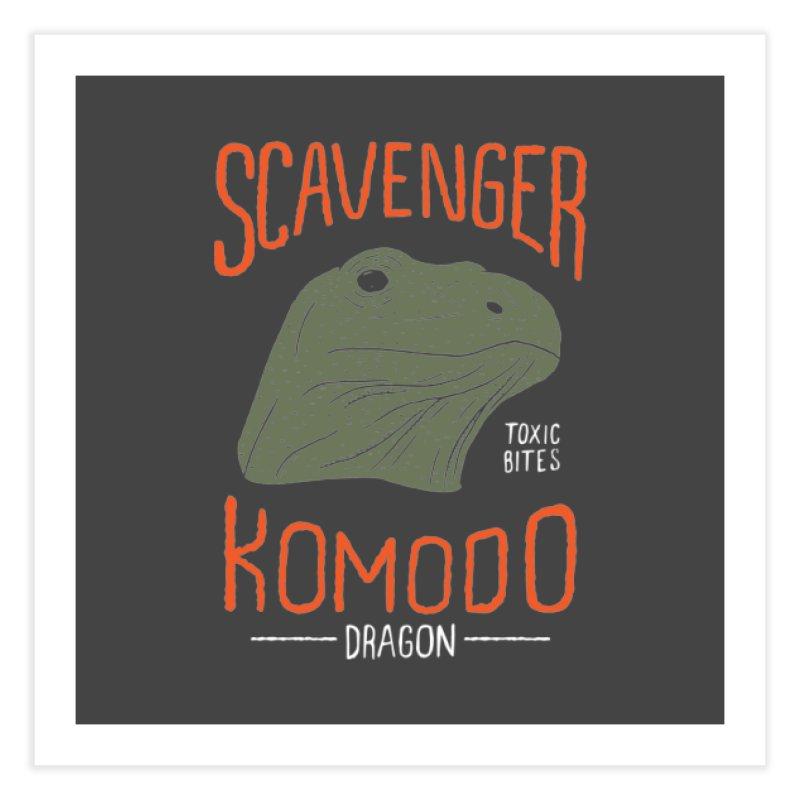 Scavenger Komodo Home Fine Art Print by wege on threadless