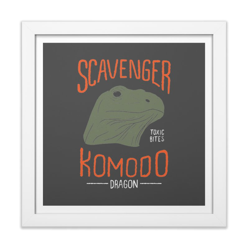 Scavenger Komodo Home Framed Fine Art Print by wege on threadless