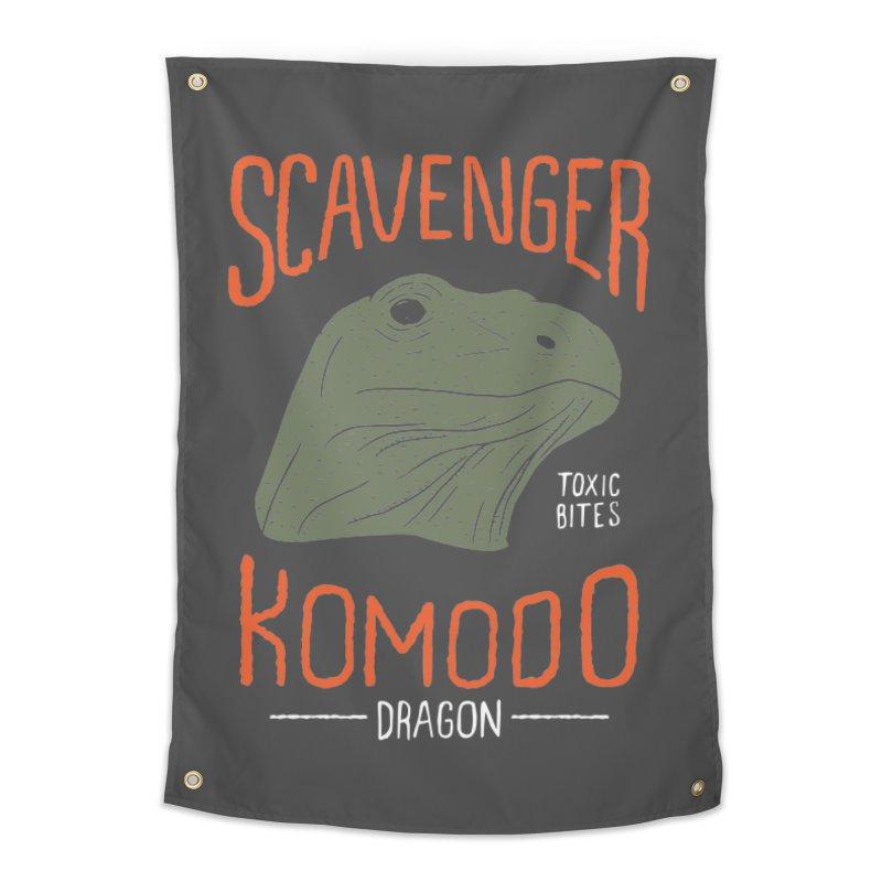 Scavenger Komodo Home Tapestry by wege on threadless