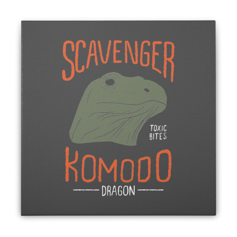 Scavenger Komodo Home Stretched Canvas by wege on threadless