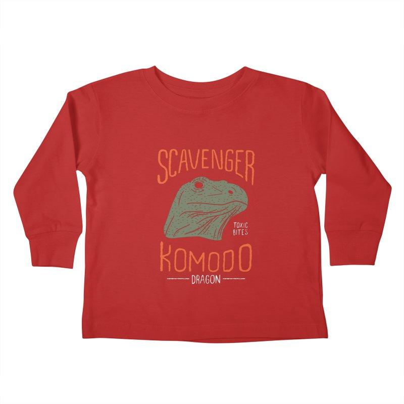 Scavenger Komodo Kids Toddler Longsleeve T-Shirt by wege on threadless