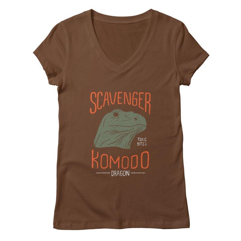 Scavenger Komodo Women's V-Neck by wege on threadless