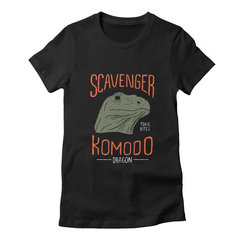 Scavenger Komodo Women's Fitted T-Shirt by wege on threadless