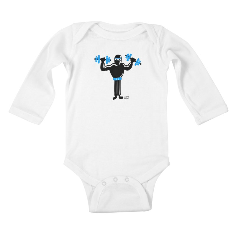 Do you even lift? Kids Baby Longsleeve Bodysuit by Weheartninjas's Artist Shop