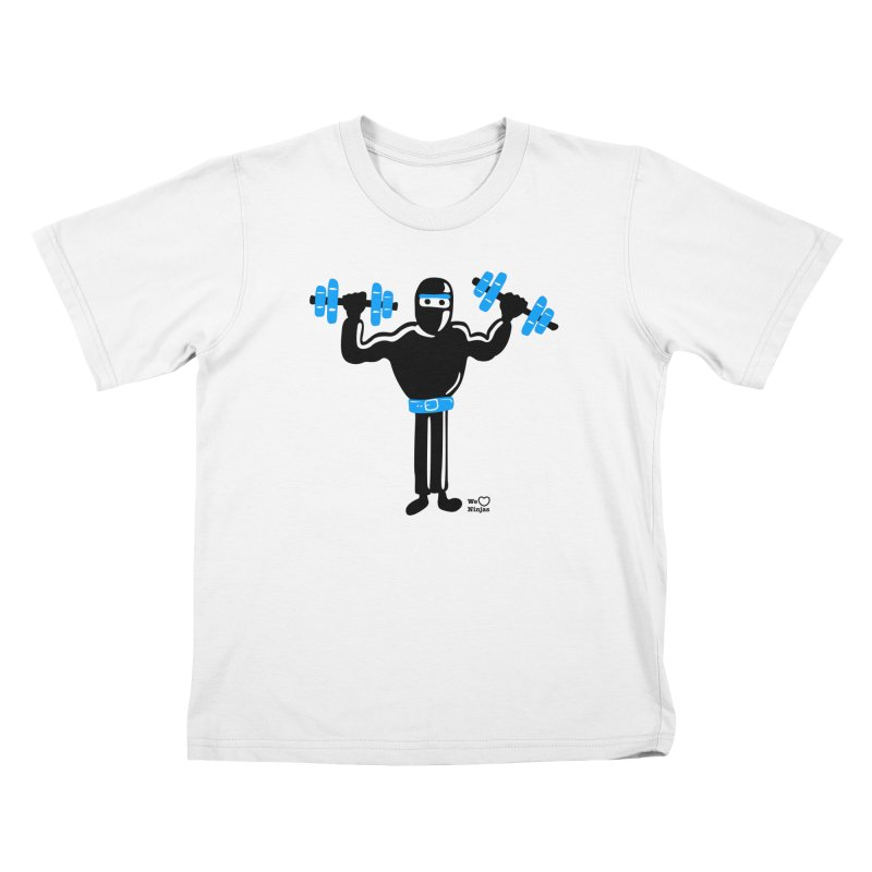 Do you even lift? Kids T-shirt by Weheartninjas's Artist Shop