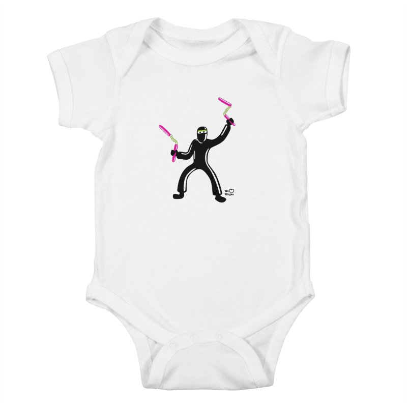 Keep practicing! Kids Baby Bodysuit by Weheartninjas's Artist Shop