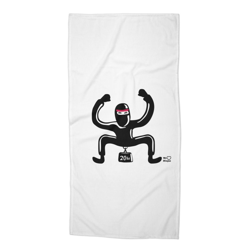 Hurts so good Accessories Beach Towel by Weheartninjas's Artist Shop