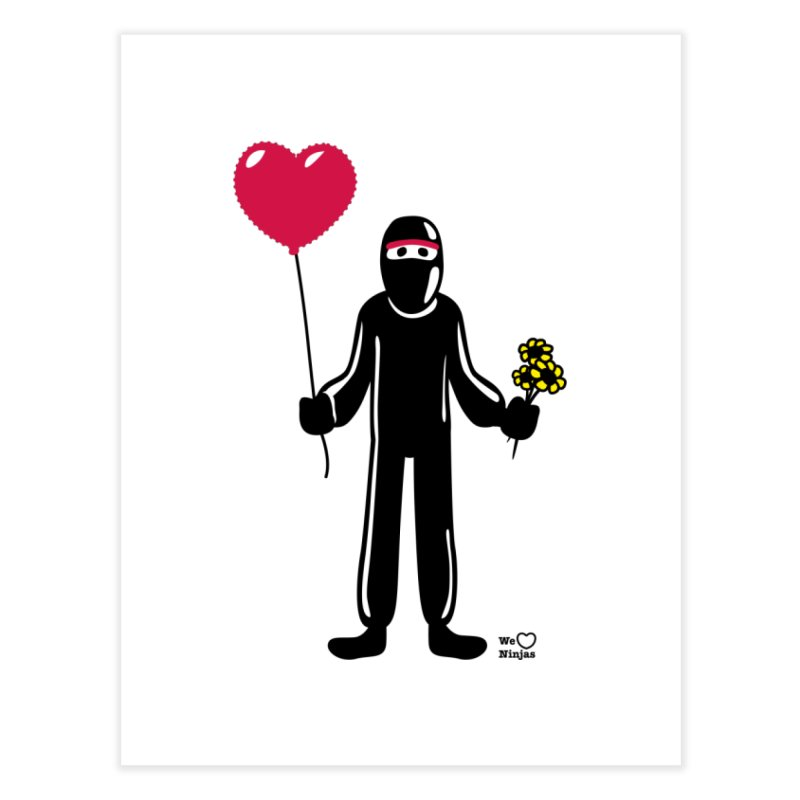 Ninja in love Home Fine Art Print by Weheartninjas's Artist Shop