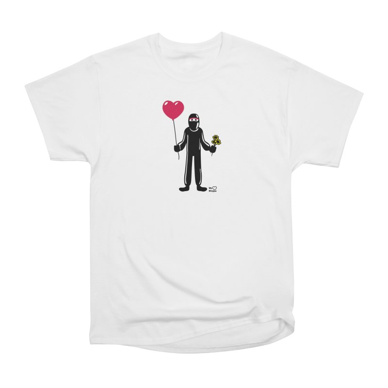 Ninja in love Men's Heavyweight T-Shirt by Weheartninjas's Artist Shop