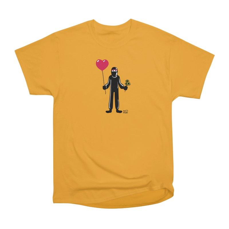 Ninja in love Men's Heavyweight T-Shirt by Weheartninjas's Artist Shop