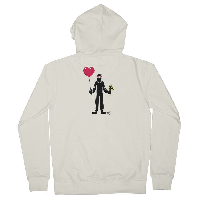 Ninja in love Men's Zip-Up Hoody by Weheartninjas's Artist Shop