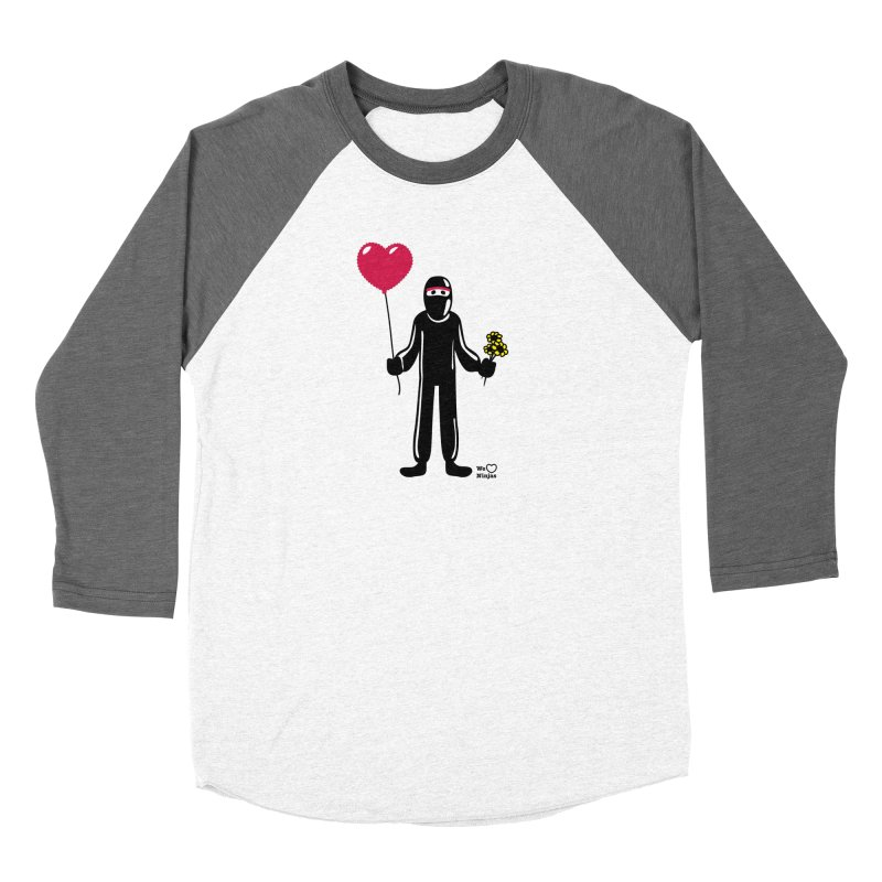 Ninja in love Women's Baseball Triblend Longsleeve T-Shirt by Weheartninjas's Artist Shop