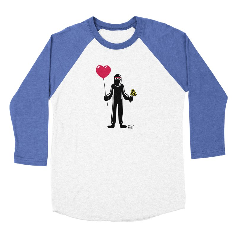 Ninja in love Men's Baseball Triblend Longsleeve T-Shirt by Weheartninjas's Artist Shop