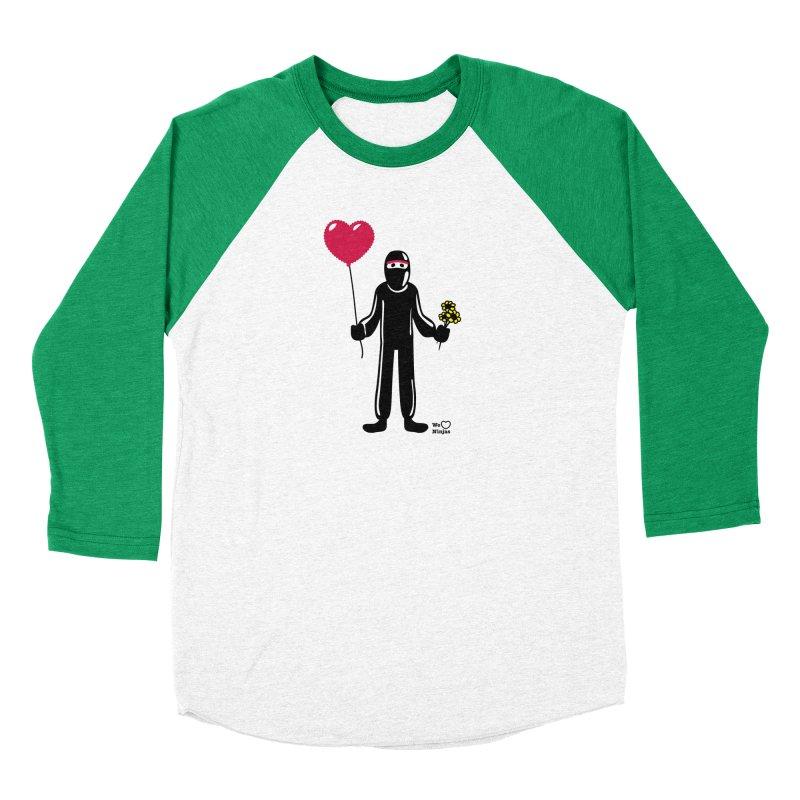 Ninja in love Men's Baseball Triblend Longsleeve T-Shirt by Weheartninjas's Artist Shop