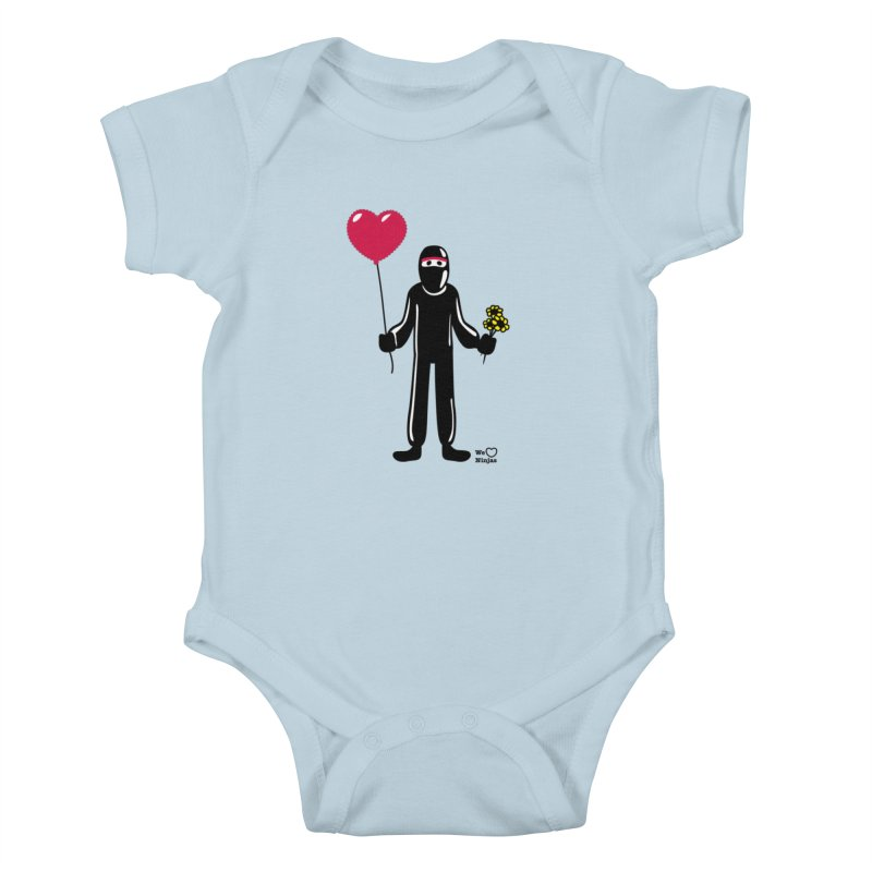 Ninja in love Kids Baby Bodysuit by Weheartninjas's Artist Shop