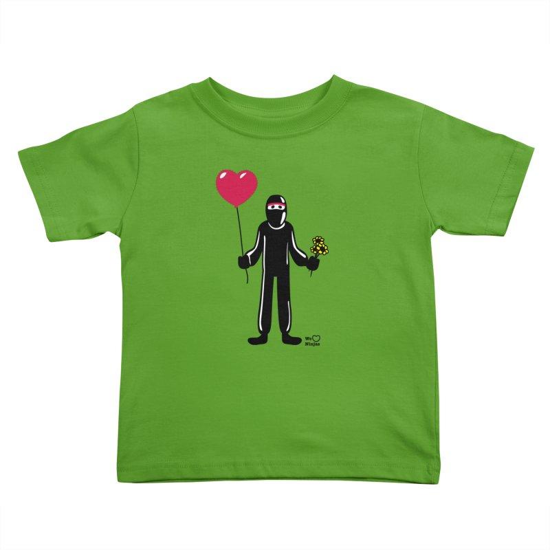 Ninja in love Kids Toddler T-Shirt by Weheartninjas's Artist Shop