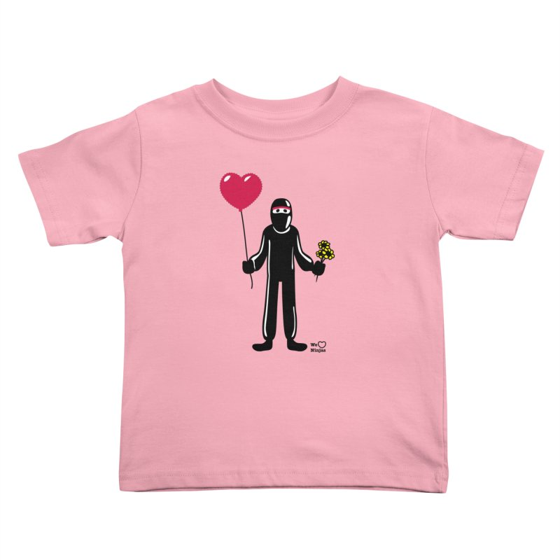 Ninja in love Kids Toddler T-Shirt by Weheartninjas's Artist Shop