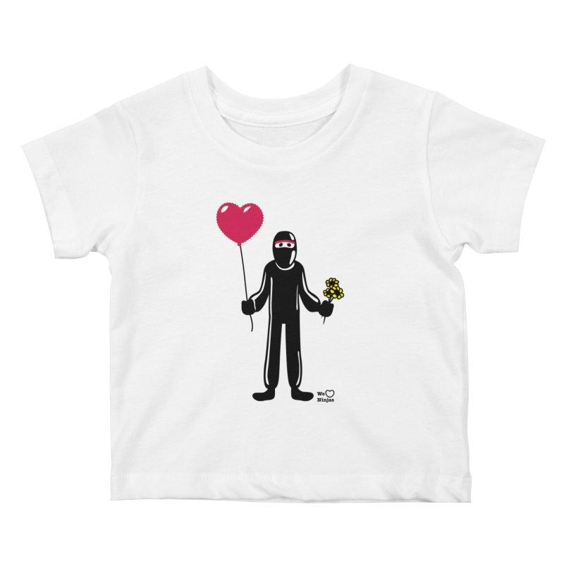 Ninja in love Kids Baby T-Shirt by Weheartninjas's Artist Shop