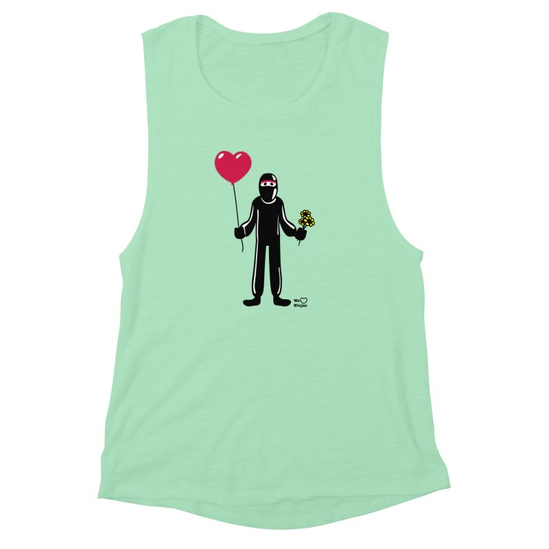 Ninja in love Women's Muscle Tank by Weheartninjas's Artist Shop