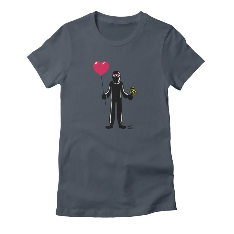 Ninja in love Women's Fitted T-Shirt by Weheartninjas's Artist Shop