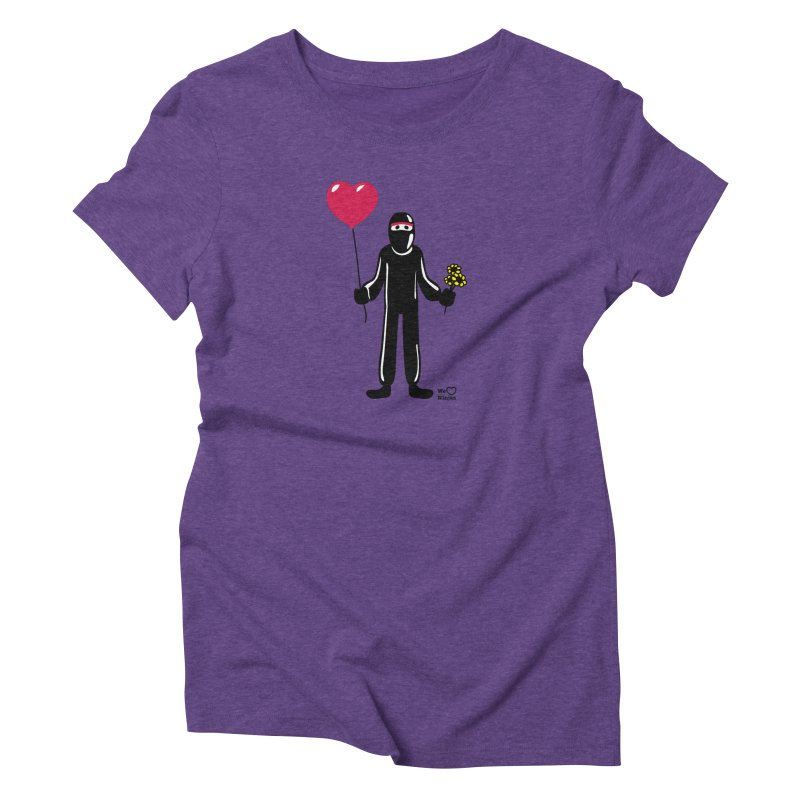 Ninja in love Women's Triblend T-Shirt by Weheartninjas's Artist Shop