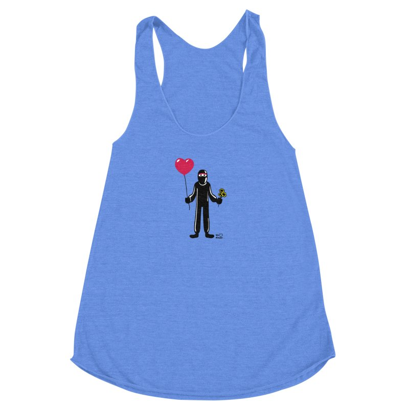 Ninja in love Women's Racerback Triblend Tank by Weheartninjas's Artist Shop