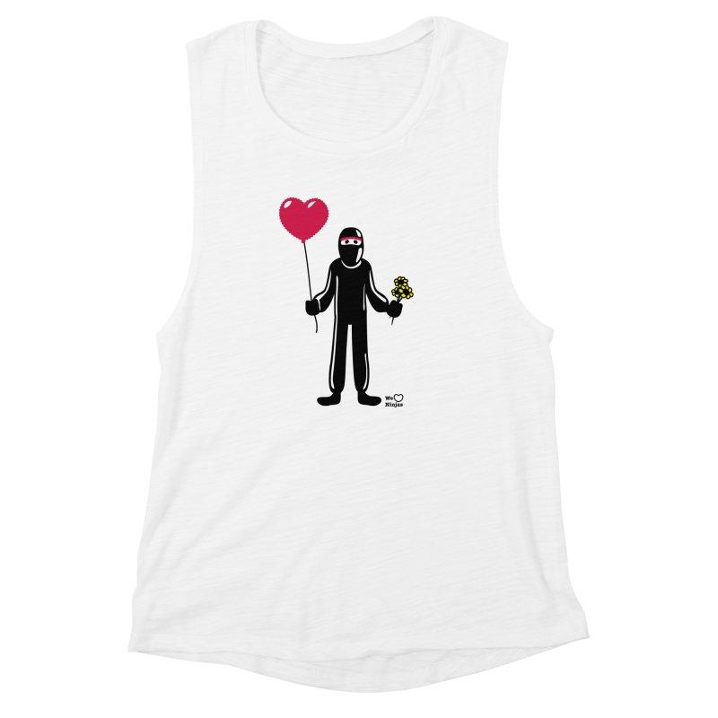 Ninja in love Women's Muscle Tank by Weheartninjas's Artist Shop