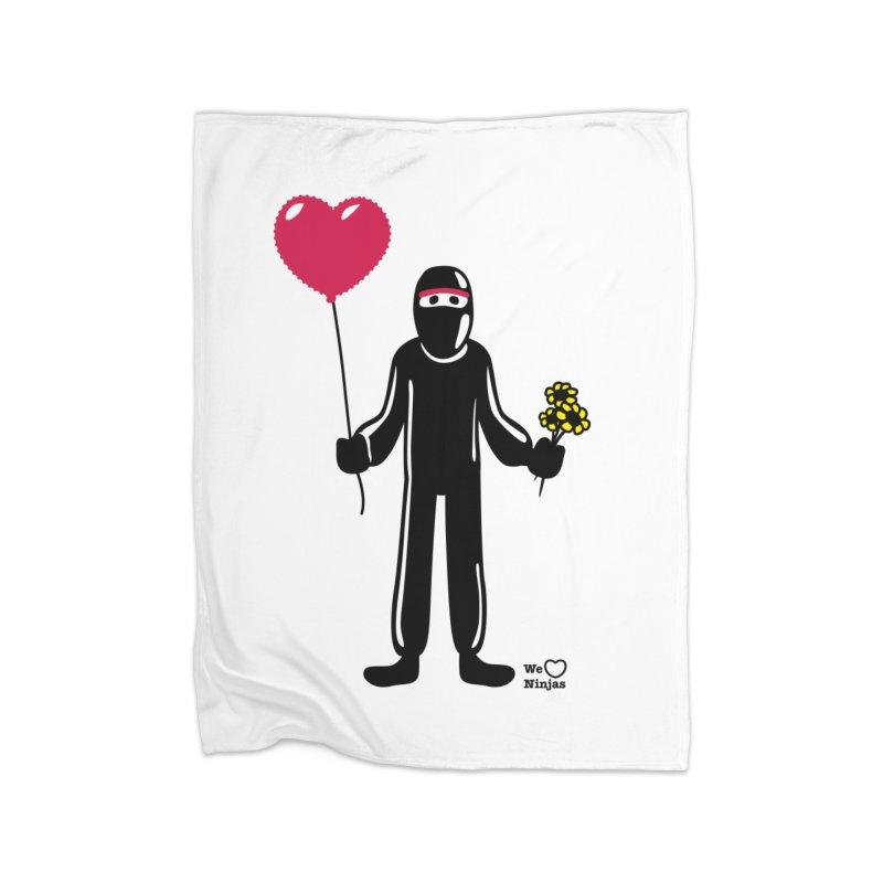 Ninja in love Home Fleece Blanket Blanket by Weheartninjas's Artist Shop