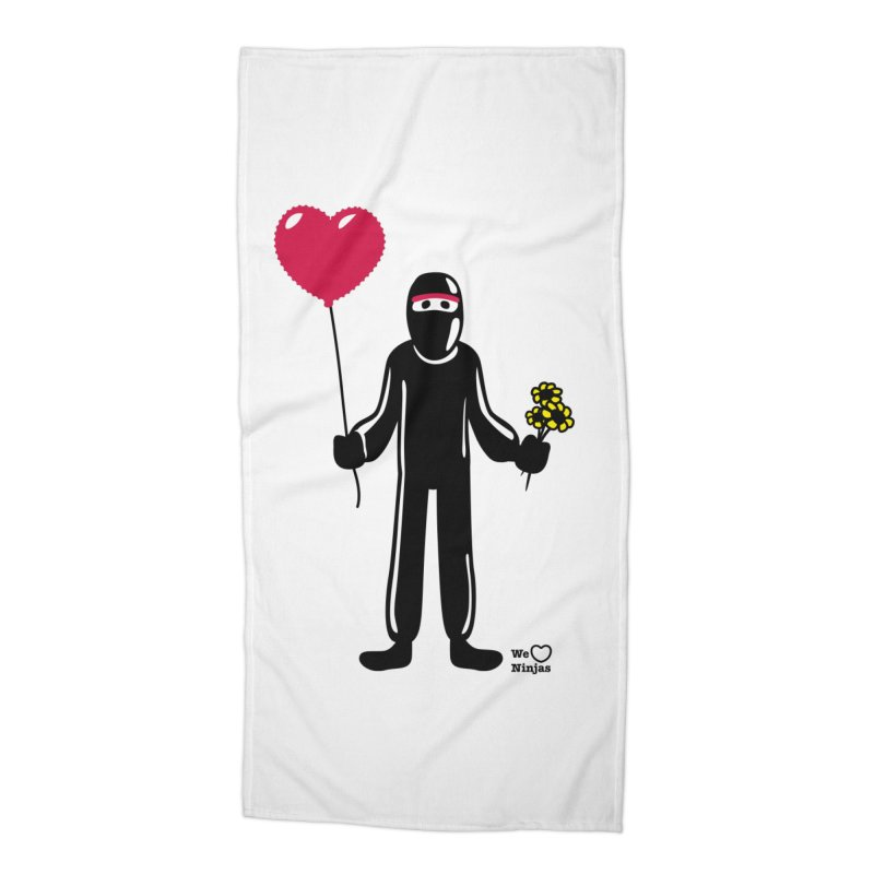 Ninja in love Accessories Beach Towel by Weheartninjas's Artist Shop