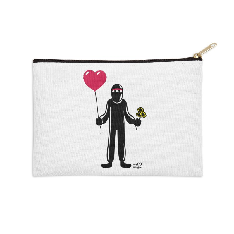 Ninja in love Accessories Zip Pouch by Weheartninjas's Artist Shop