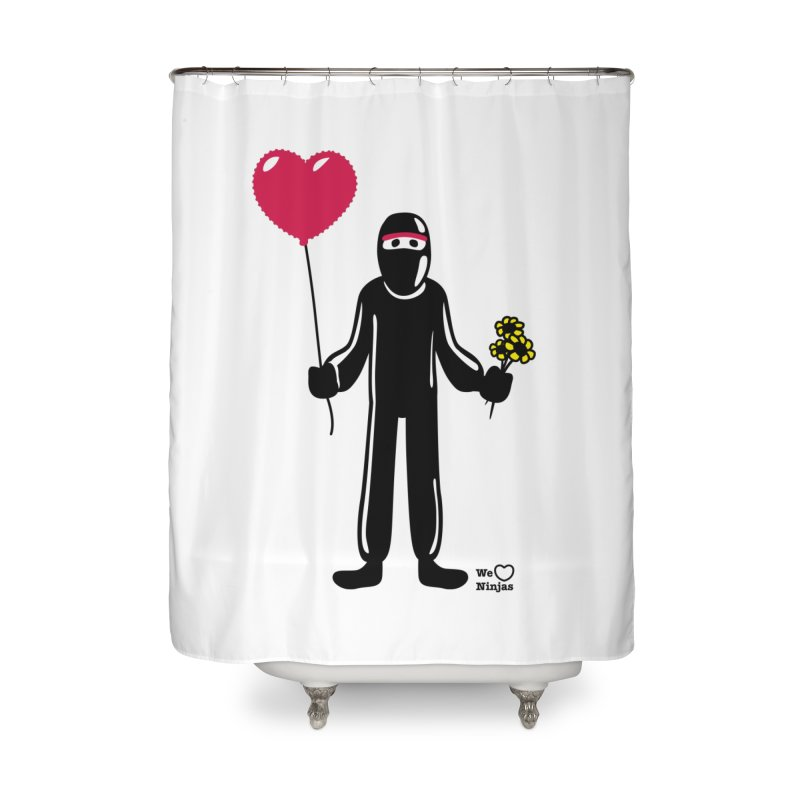 Ninja in love Home Shower Curtain by Weheartninjas's Artist Shop